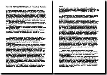 Analyse du poème Fantaisie - Gérard de Nerval
