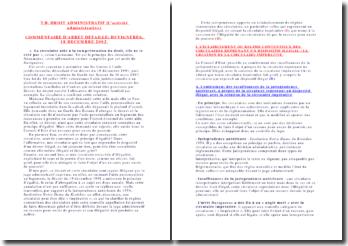 Commentaire d'arrêt Duvigneres du 18 décembre 2002