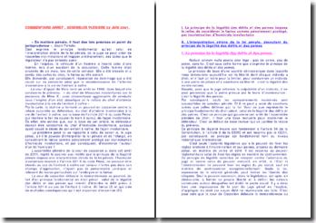 Commentaire d'arrêt: assemblée plénière du 29 juin 2001