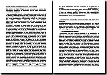 Cour de cassation, chambre commerciale, 13 février 1996
