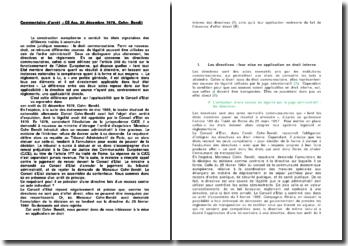 Commentaire d'arrêt 22 décembre 1978 Cohn bendit