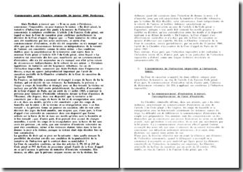 Commentaire arrêt Chambre criminelle 16 janvier 1986 Perdereau