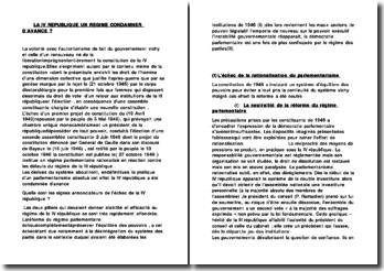 LA IV REPUBLIQUE UN REGIME CONDAMNE D'AVANCE ?