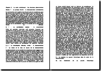 Droit administratif : les structures administratives