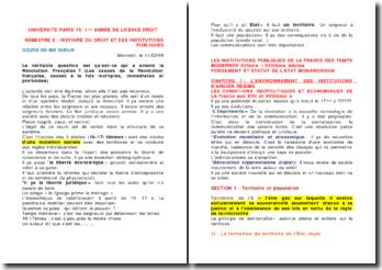 HISTOIRE DU DROIT ET DES INSTITUTIONS PUBLIQUES