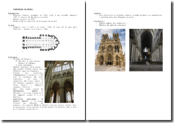 La Cathédrale de Reims: plan et élévation