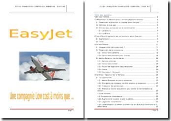 Etude marketing de la compagnie aérienne Easy Jet: une compagnie low cost à moins que...