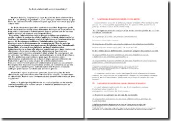 Le droit administratif, un droit inégalitaire ? - principe d'égalité devant le service public et dualité de la juridiction