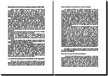 Commentaire de l'arrêt de la chambre sociale du 5 Mai 1998