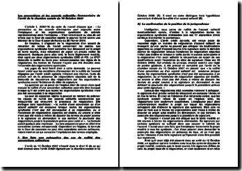 Les conventions et les accords collectifs: commentaire de l'arrêt de la chambre sociale du 10 Octobre 2007