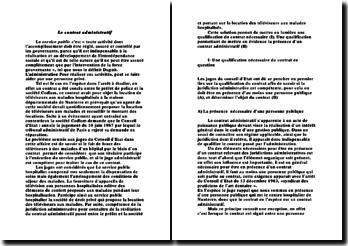 Le contrat administratif - qualification nécessaire et présence évidente