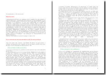 Déconcentration et décentralisation de l'administration française