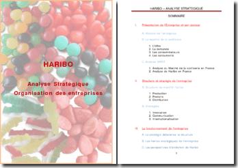 Organisation des entreprises : HARIBO