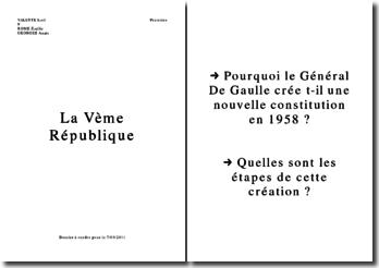Pourquoi le Général De Gaulle crée t-il une nouvelle constitution en 1958 ?
