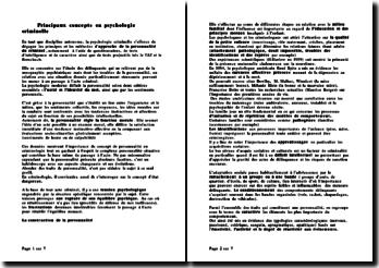 Principaux concepts en psychologie criminelle