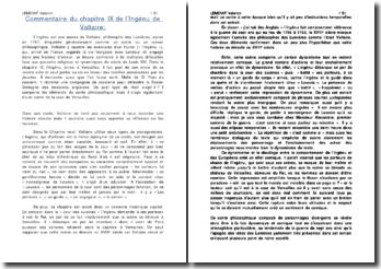 L'Ingénu, Voltaire - analyse du chapitre IX