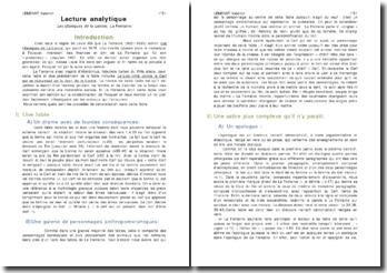 Les obsèques de la Lionne, La Fontaine - lecture analytique