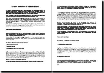 La lettre d'intention en droit des sûretés