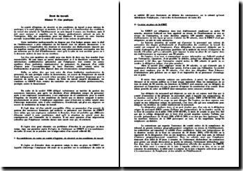 Le comité d'hygiène, de sécurité et des conditions de travail: étude d'un cas pratique
