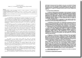Les Institutions Representatives Du Personnel Etude De Cas Pratique