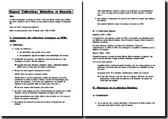 Les collections Richelieu et Mazarin