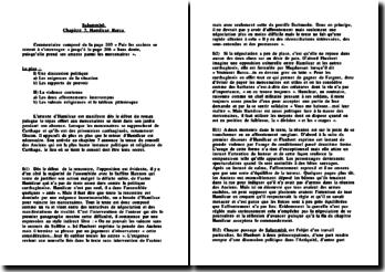 Salammbô, Hamilcar Barca, commentaire de la page 203 à la page 206