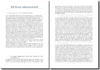 Les rapports entre le droit interne et le droit communautaire ainsi que l'interprétation du juge administratif