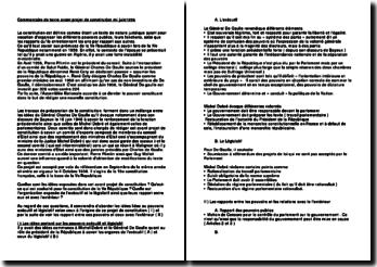 Commentaire de texte avant projet de constitution mi juin1958