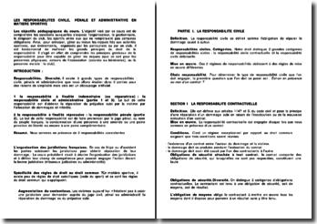La responsabilité civile, pénale et administrative en matière sportive