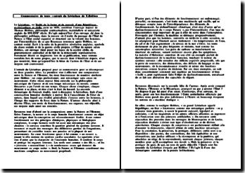Commentaire de texte : extrait du Léviathan de T. Hobbes