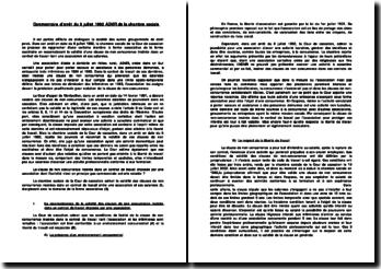 Commentaire d'arrêt du 8 juillet 1992 ADMR de la chambre sociale