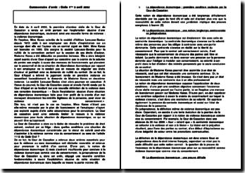Commentaire d'arrêt : Civile 1ère 3 avril 2002