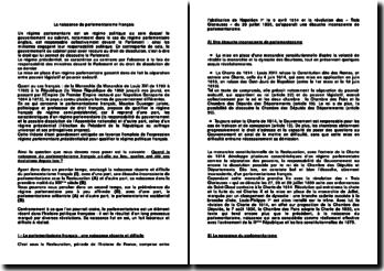 La naissance du parlementarisme français