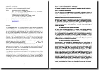 Les principes fondamentaux, les particularismes et les consequences de l'autonomie du droit administratif