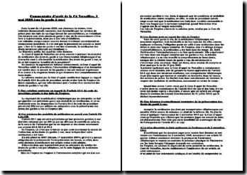 Commentaire d'arrêt de la CA Versailles, 3 mai 2000 (sur la garde à vue)