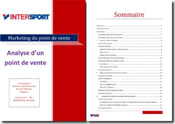 Analyse d'un point de vente d'un magasin Intersport