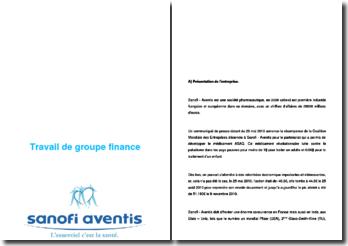 Analyse financière : Sanofi Aventis