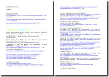 Références pour les accords du groupe Renault 2008