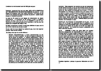 L'évolution du role du conseil const de 1958 juka nos jours