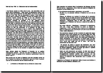Arrêt du 3 mai 1788 : la « Déclaration des lois fondamentales