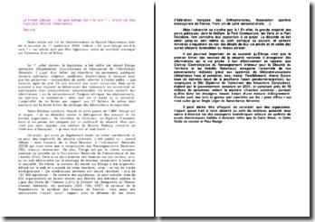 Le fichier Edwige : « De quoi Edvige est-il le nom ? », article de Elsa Vigoureux (Nouvel Observateur)