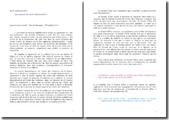 Les sources du droit administratif : commentaire d'arrêt : Cheriet-Benseghir, CE 9 juillet 2010