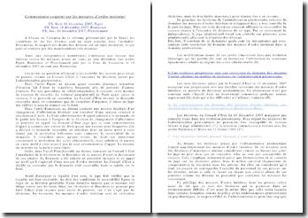 Le recours pour excès de pouvoir par l'administration pénitentiaire, cas Payet, Boussouar, Planchenault