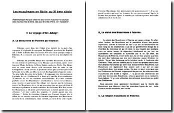 Les musulmans en Sicile: au XI ème siècle