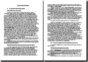 Les clauses abusives - critères et présomption, législation protectrice