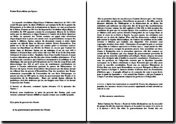 Contre Eratosthène - Lysias: la tyrannie des Trente