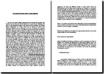 Le traité de Verdun (843) selon Nithard