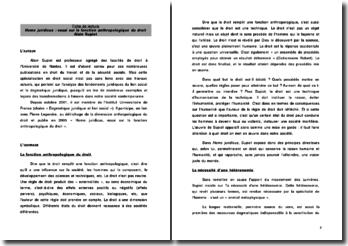 Homo juridicus : essai sur la fonction anthropologique du droit - Alain Supiot (2005)