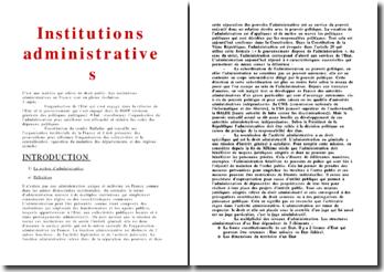 Les institutions administratives en France