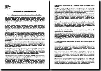 loccupation privative du domaine public dissertation